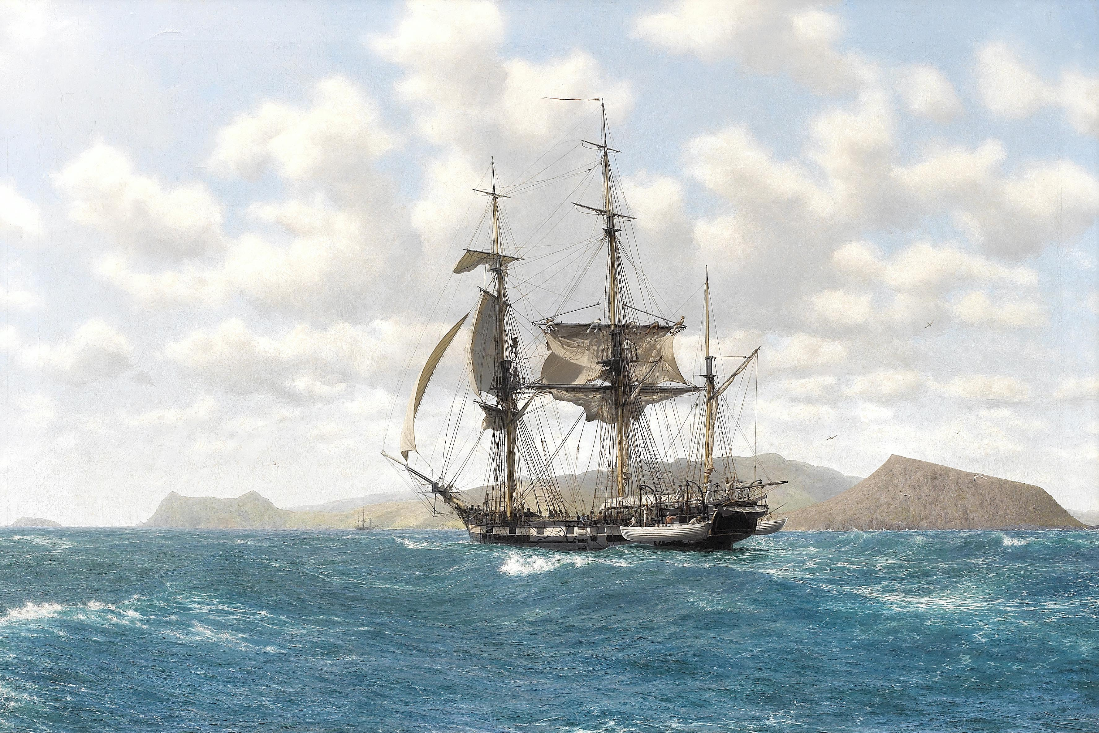 The Journal Of Blue Lou Logan Boats History Rum And All Things Sailing Ship Diagram Tall Ships Pinterest Hms Beagle In Galapagos Islands By John Chancellor